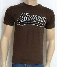 Element Skateboards Greatest Script Graphic Tee Mens Brown T-Shirt New NWT