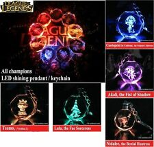 League Of Legends Crystal 7 Color Flash LED Light Keychain-All-Star