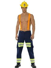 Adult Sexy Fireman Firefighter Uniform Mens Fancy Dress Costume StagParty Outfit