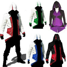 Assassins Creed 3 III Faux Leather Connor Kenway Hoody/Jacket Cosplay Costume