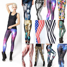 2014 Chic Women's 3D Graphiti Printed Punk Leggings Skinny Stretchy Tights Pants