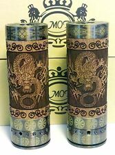 New DINO 26650 Mechanical Mod, Real Redwood and Brass, Classic Dragon Design