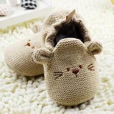0-18M Infant Toddler Baby Knit Crib Shoes Newborn Boy Girl Cartoon Shoes Elastic
