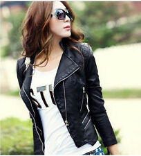 New women's fashion jacket slim leather jackets coat