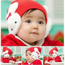 Cap Hat Baby Kids Ear Flap Beanie Crohet Rabbit Toddler Boys Girl Warm Winter