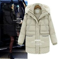 Winter 2014 women's long down jacket lamb's wool coat thick 90% white duck down