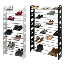 10 Tier Shoe Rack Tower Closet Organizer Holder Free Standing Stand Space Saving