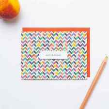 pop-in-greetings: multi-color chevron single pattern card