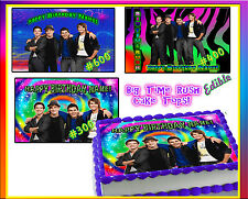 BIG TIME RUSH edible cake toppers Sugar sheets picture decal image birthday BTR