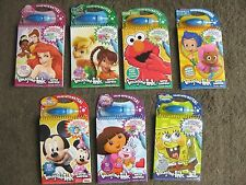 New Water Wow Surprise Doodle Books Princess Dora, Bubble Guppies, Elmo $6.89 ea