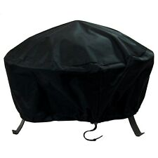 Sunnydaze Black Fire Pit Cover-Fits Round & Square Fire Pits-Water Proof