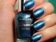 Wet N Wild CHROME Nail Polish Glitter Choose Your Color