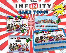 Disneys Infinity CAKE Edible sugar topper Paper picture birthday image game idea