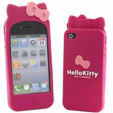 Cute hello kitty Silicone Cover Case Skin for iphone 4g 4s