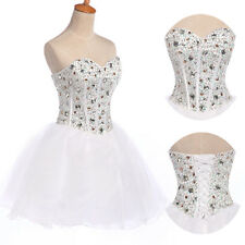 Corset 1 Beaded Party Mini Wedding Gown Homecoming Graduation Prom Short Dresses