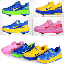 New Fashion Boy's Girl's Youths Skate Sport Sneakers Wheel Roller Shoes/ Casual