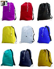Large Laundry Bags with Strap, Drawstring, College Size 30x40, 16 School Colors