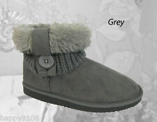 LADIES MICROSUEDE BOOTEE / BOOTS / SHOES / ANKLE BOOTS / SLIPPERS