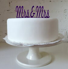 Mrs & Mrs Cake Topper - Gay Wedding Civil Partnership Lesbian Female Women