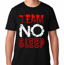 TEAM NO SLEEP BLUE RAVE DANCE MUSIC HOUSE ELECTRO MUSIC CLUB PARTY HARD T SHIRT