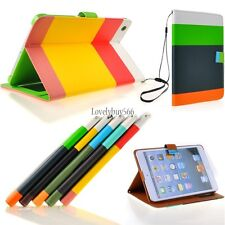 New PU Leather Wallet Flip Pouch Stand Case Cover For iPad 2 3 4 iPad Mini LB6Y