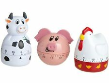 Design Imports Farm Animal 60 Minute Kitchen Timer 3pk - Cow Piggy or Chicken