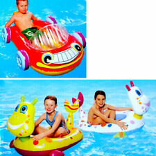 Inflatable Toddler Kids Float Floating Dragon Seat Car Swimming Pool Outdoor Toy
