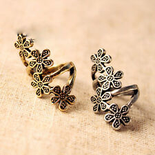 Vintage Design Silver&Bronze Unique Look Carving Beauty Flower Lovely Rings 1PCS