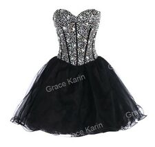 New Illusion Corset Beaded Party Wedding Homecoming Quinceanera Prom Short Dress