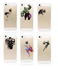 Personal Design Super Hero Character Plastic Back Clear Case For iPhone 5 5S