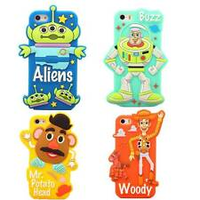 Hot Disney Cartoon Toy Story Silicone Soft Back Full Rubber Case For iPhone 5 5S