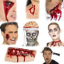 Halloween Scars Wounds Accessory - Zip Scar Gory Wound Vampire Bite Brain Hat