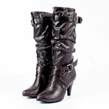 High Heel Boots Winter Boots Brown Boots Ladies Boots At CLEARANCE PRICE