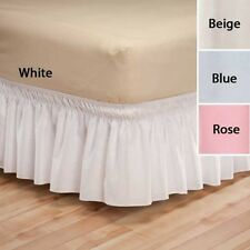 """NEW ~ Bed Dust Ruffle Wrap Around Skirt Solid 14"""" Skirt Twin/Full Queen/King"""