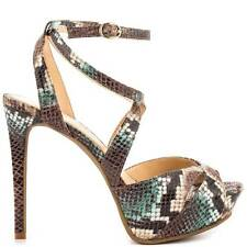 Women's Shoes Jessica Simpson FINLAY Platform Heels Sandals Earth Multi Snake