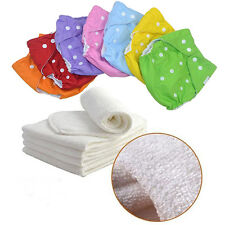 Baby Infant Adjustable Washable Leakproof Cloth Nappy Diaper Cover Reusable