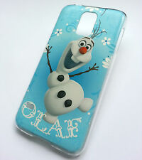DISNEY congelato Olaf pupazzo di neve FUNNY CARTOON MOVIE SAMSUNG S5 I9600 Custodia Rigida Cover