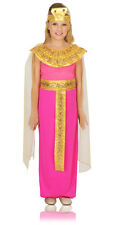 Girls Pink Cleopatra Costume Deluxe Fancy Dress Goddess Egyptian Child Kids NEW