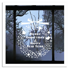 Merry Christmas &Happy New Year Removable Windows Vinyl Wall Stickers Decal