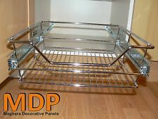 WIRE PULL OUT BASKETS FOR KITCHEN BASE UNITS AND LARDER & BEDROOM CUPBOARDS
