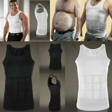 Mens Body Slimming Tummy Shaper Vest Belly Underwear Shapewear Girdle Shirt
