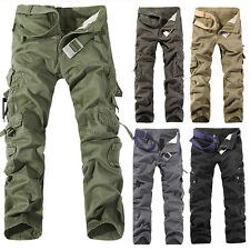 New Casual Mens Military Army Cargo Camo Combat Work Trousers Pants USA Seller