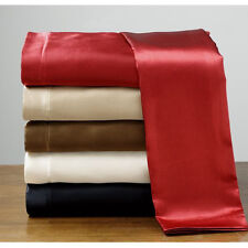 New Comfort Soft Silk~Y Satin Lingerie Bed Sheets Set ALL SIZES SOLID COLOR