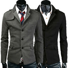 NEW WINTER Mens Fashion Trench Coat Double Breasted Long Jacket Coat Overcoat