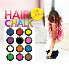 US New Non-toxic Temporary Hair Chalk Dye Soft Pastels Salon Show Party With Box