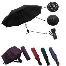 Unisex Business Self-automatic Open/Close Windproof Pure Color Compact Umbrella
