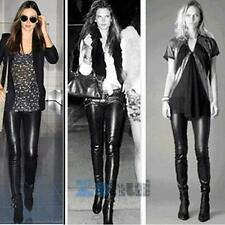 Sexy Lady Thicken Winter Warm Leggings Leather Slim Stretch Pants Solid DEj