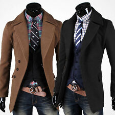 Billig Winter Slim Fit Casual Jacken Blazer Sakko Mäntel Herren Überzieher M-2XL