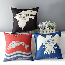 Pillow Cases Home Decorative Throw Car Sofa Seat Cushion Covers Game of Thrones