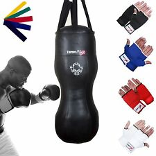 TurnerMAX Boxing Heavy Punch Bag Angle Body Upper Cut MMA + Gloves Muay Thai UFC